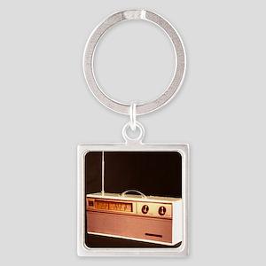 Radio Square Keychain