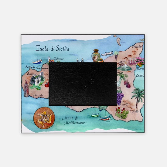 Map of Sicily Picture Frame
