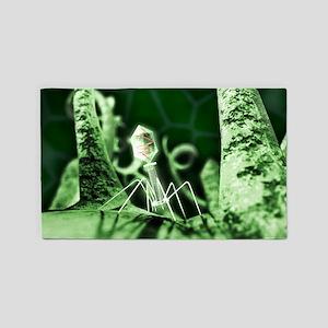 Bacteriophage virus, artwork 3'x5' Area Rug