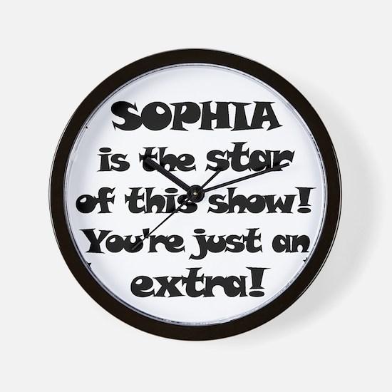 Sophia is the Star Wall Clock