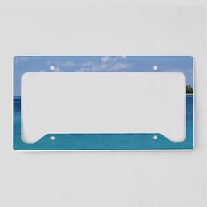 Caribbean Blue License Plate Holder