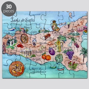 Map Of Sicily Puzzle