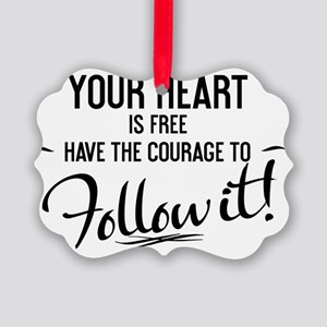 boxer shorts  Your heart is free  Picture Ornament
