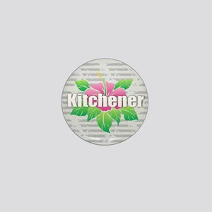 Kitchener - Hibiscus Mini Button