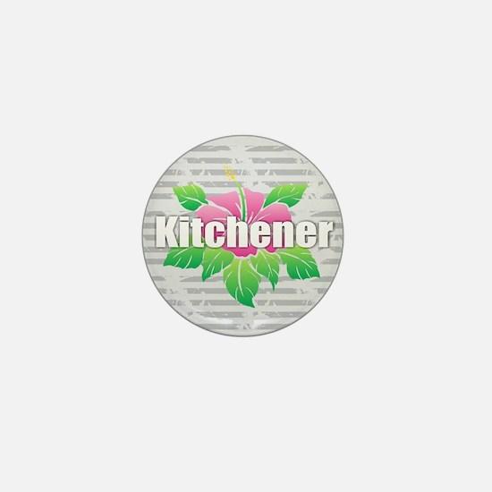 Kitchener - Hibiscus Mini Button