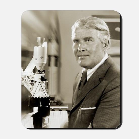 Wernher von Braun, German rocket pioneer Mousepad