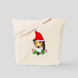 Beagle With Santa Hat Tote Bag