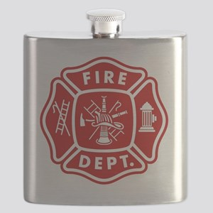 Fire Department Crest Flask