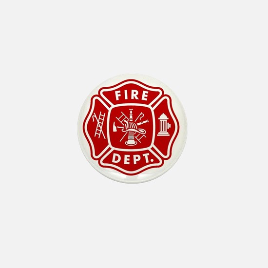 Fire Department Crest Mini Button