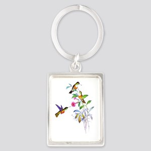 Hummingbird001 copy Portrait Keychain