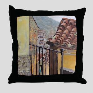 monterosso scene Throw Pillow