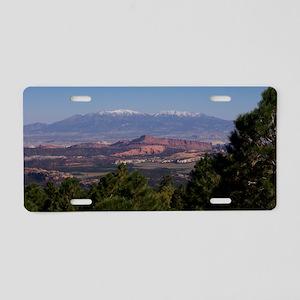 UtahVistaRed1 Aluminum License Plate
