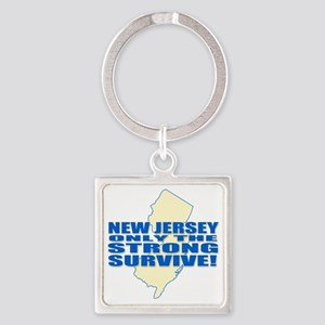 New Jersey Strong Square Keychain