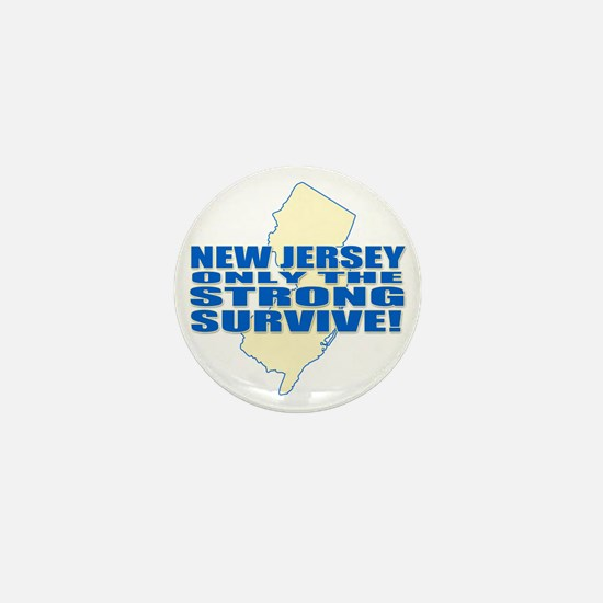 New Jersey Strong Mini Button