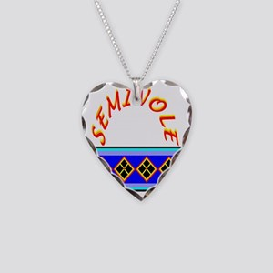 SEMINOLE INDIAN PATCHWORK Necklace Heart Charm