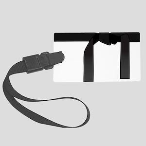 Black Belt Large Luggage Tag
