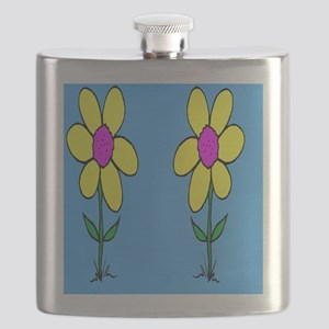 Funny Sun Flowers Flask
