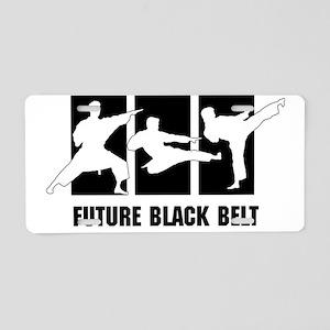 Future Black Belt Aluminum License Plate