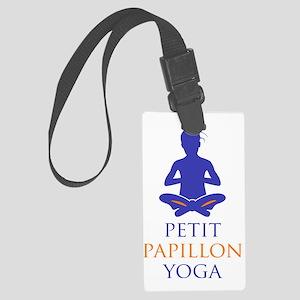 Petit Papillon Yoga Logo Large Luggage Tag