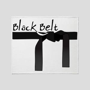 Black Belt Throw Blanket