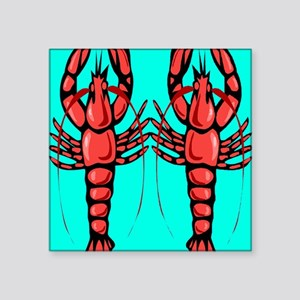 "Crayfish Square Sticker 3"" x 3"""