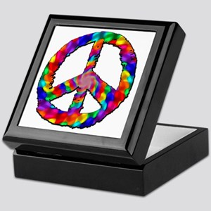 Psychedelic Peace Sign Keepsake Box