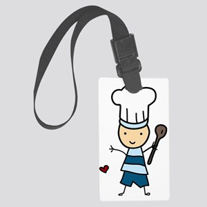 Little Chef Boy Large Luggage Tag