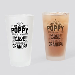 I Am Called Poppy... Drinking Glass