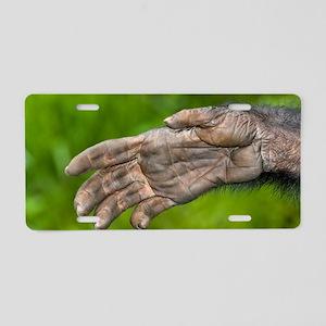 Bonobo ape hand Aluminum License Plate
