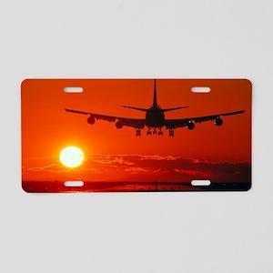Boeing 747 Aluminum License Plate