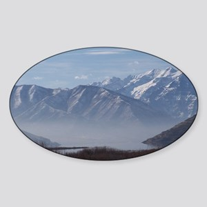 Fog on Deer Creek Sticker (Oval)