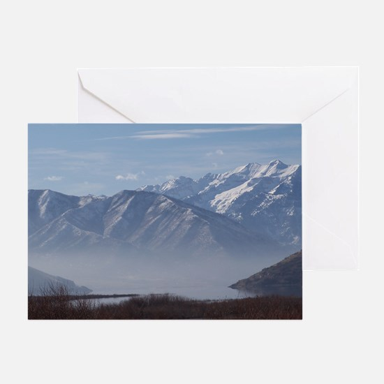Fog on Deer Creek Greeting Card