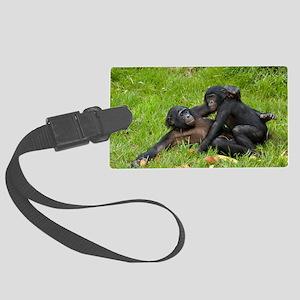 Bonobo apes mating Large Luggage Tag