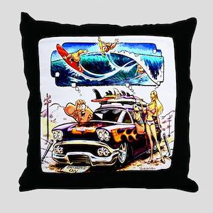 Vintage Woody Throw Pillow