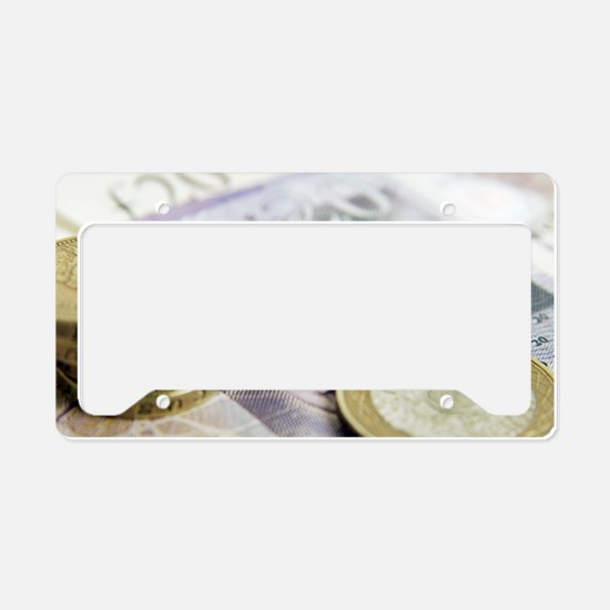 British currency License Plate Holder