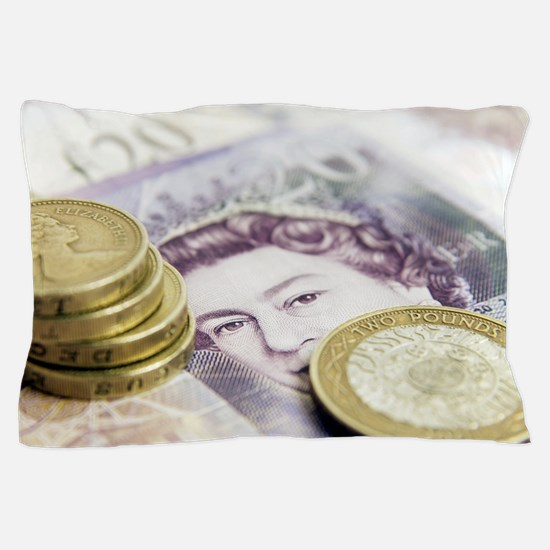 British currency Pillow Case