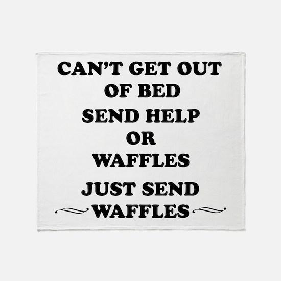 Send Waffles Throw Blanket
