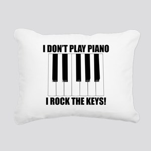 I Rock The Keys Rectangular Canvas Pillow