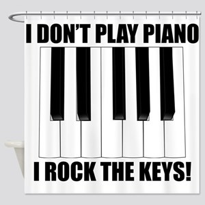 I Rock The Keys Shower Curtain