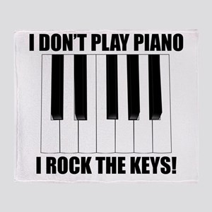 I Rock The Keys Throw Blanket