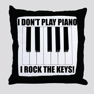 I Rock The Keys Throw Pillow