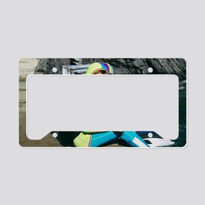 Child scuba diver License Plate Holder