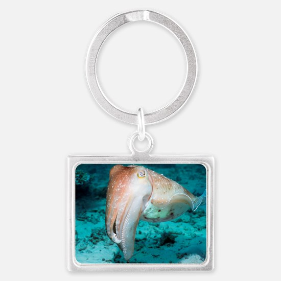 Broadclub cuttlefish Landscape Keychain