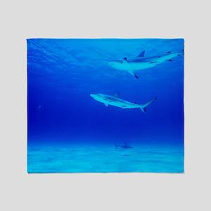 Caribbean reef sharks Throw Blanket