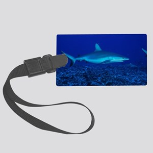 Bull shark Large Luggage Tag