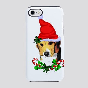 Beagle With Santa Hat iPhone 7 Tough Case