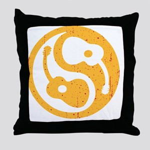 guitar-yang-open-or-red Throw Pillow
