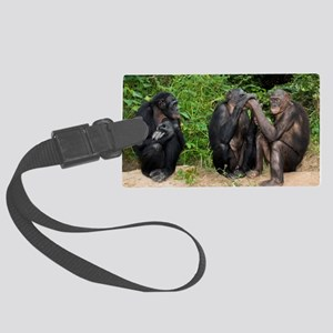 Bonobo apes Large Luggage Tag