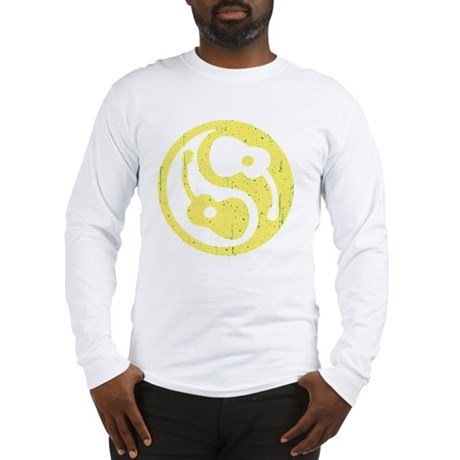 guitar-yang-open-yel-grn Long Sleeve T-Shirt