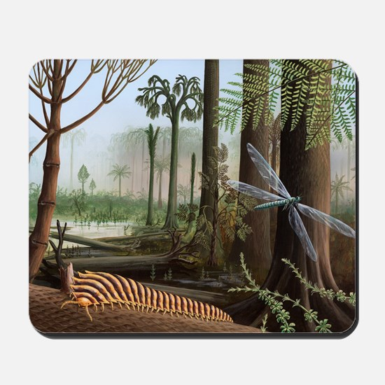 Carboniferous insects, artwork Mousepad